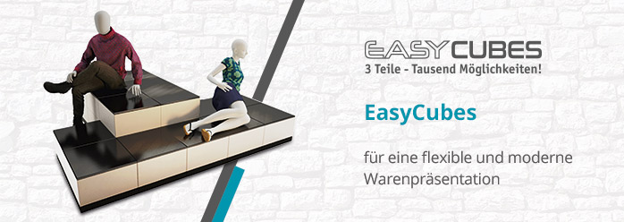 Warenpräsentationssystem Easy Cubes