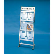 """6 Section Leaflet Stand """"Venus"""" with Header"""