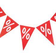 "Bunting ""Percentage Symbol"""