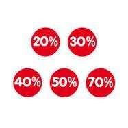 """Sticker Percent""""Percent"""", various reductions"""