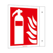 Fire Extinguisher Flag Sign