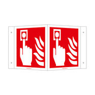 Fire Alarm (manual) Angled Sign