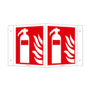 Fire Extinguisher Angled Sign