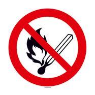 No open flames; Fire and smoking forbidden