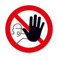 No Unauthorised Access Sign, round
