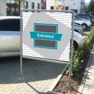 """Banner Frame Slot System Steel """"Fascia Entrance"""""""