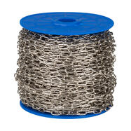 Link Chain 50 m, nickel plated steel