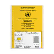 Vaccination Card Cover with additional Front Pocket