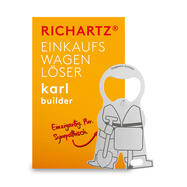 "Shopping Trolley Release Key ""Karl Construction Worker"""