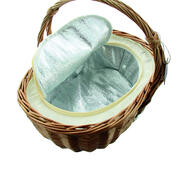 """Solid Wicker Shopping Basket """"Keep Cool"""""""