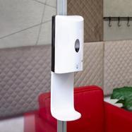 Sensor-Wall - Retrofit set, disinfectant dispenser for stretch frames & 30's Quattro profiles