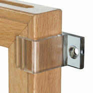 Wall-Mounted Clip for Wooden Frame