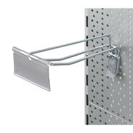 """Pegwall Double Hook with Locking Device and Swinging Price Tag """"II"""""""