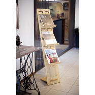 "Leaflet Stand ""H2"" in wood"