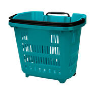 Roller Basket on Wheels with Telescopic Handle