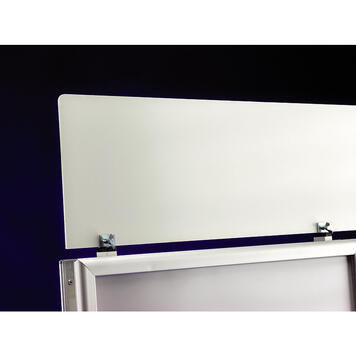 "Header Board for Poster Stands in the series WindSign ""Economy II"""