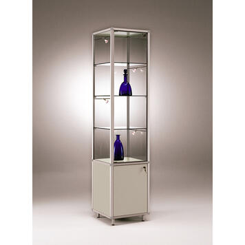 """Showcase """"Square"""" with Cupboard"""