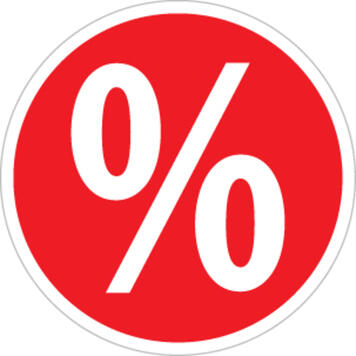 Sticker Percentage Sign, round
