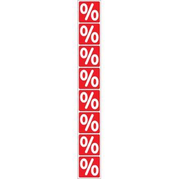 Sticker Percentage Sign Roll, vertical