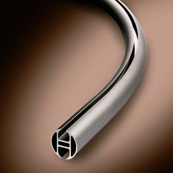 """Round Aluminium Rail """"Curve"""""""