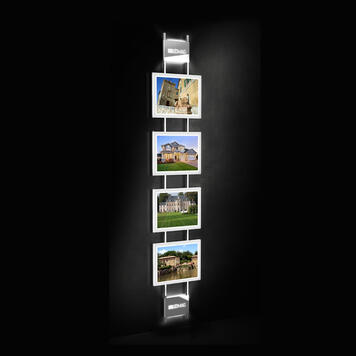 """LED Magnetic System """"TS"""" Wallmounted Display"""