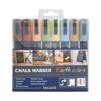 Chalk Marker Set Earth Colours