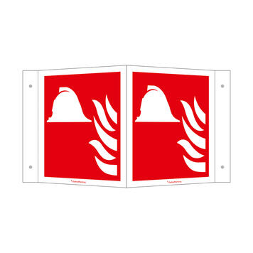 Fire Fighting Equipment Angled Sign
