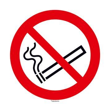 No Smoking Sign, round