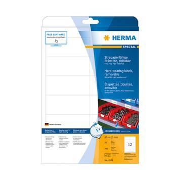 Weatherproof Film Labels, Herma 4572