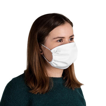 Face mask 100% polyester, 2-ply