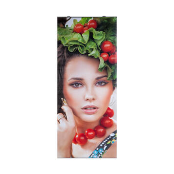 Polyester Banner with Press Rail top/bottom, printed on one side