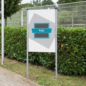 """Banner Frame Slot System Steel """"Pole"""""""