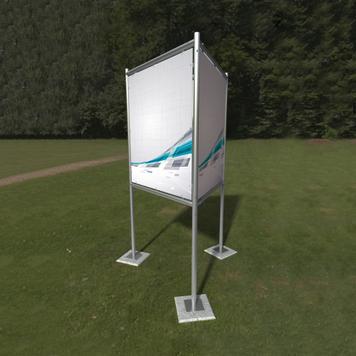 """Banner Frame Slot System Steel """"Trio Sign"""""""