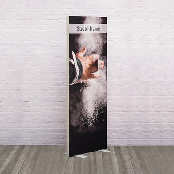 "Digitally Printed Banner for Stretchframe Display ""50"""