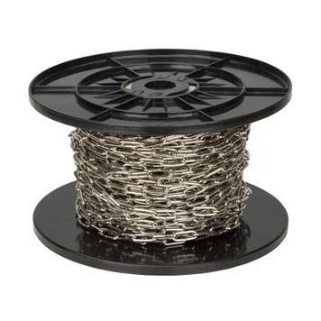 Welded Chain 30 m, galvanised or nickel plated steel
