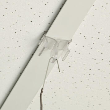 Plastic Ceiling Clip, eyelet 90° to ceiling rail