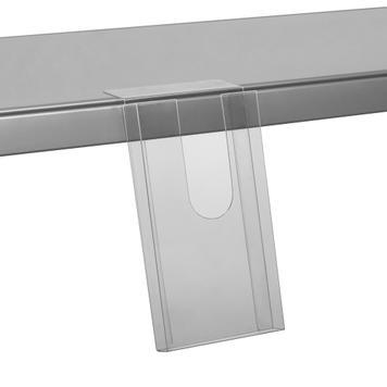Shelf Edge Leaflet Holder - with adhesive tape 110 x 200 x 20