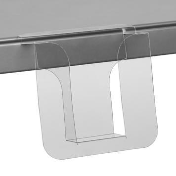 Shelf Edge Leaflet Holder, with large indent in standard paper sizes