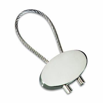 "Keyring ""Cable"" glossy silver"