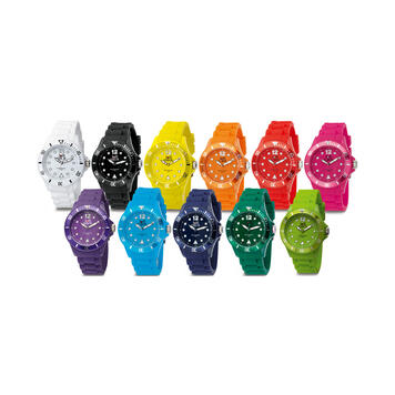 Lollipop Clock, colourful wristwatch in different versions