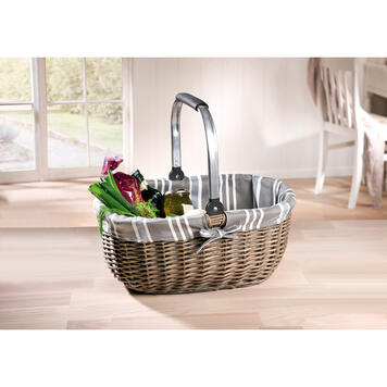 "Shopping Basket ""Grey Willow"""