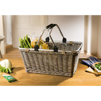 """Shopping Basket """"Shopping"""" in willow, plaited"""