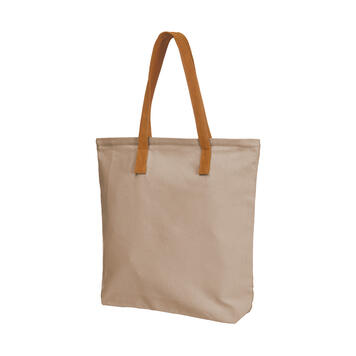 "Shopping Bag ""Spirit"" in warm colour with imitation leather handles"