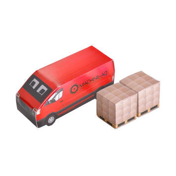 Delivery Van with 2 Boxes Peppermint
