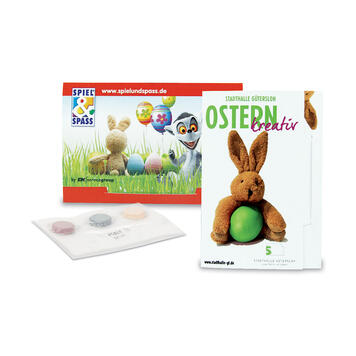 Colour-Card, Briefchen mit 3 Farbtabletten zum Ostereier färben to colour Easter eggs