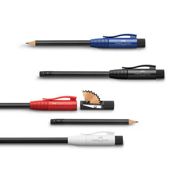 """The """"Perfect Pencil"""" by Faber Castell, with integrated sharpener and eraser"""