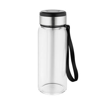 "Metmaxx® Glass Drinking Bottle ""GenerationRefillGourmet"""