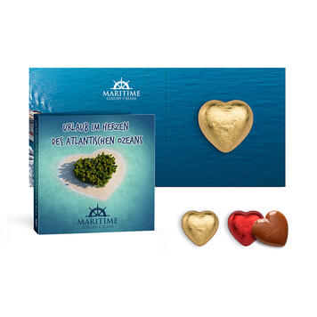 Promotion Card with Lindt Chocolate Heart, 5 g