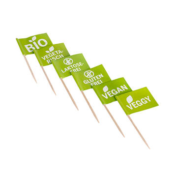 Mini Flags for Food Labelling