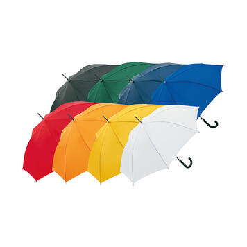 Automatic Umbrella with Curved Handle, coloured